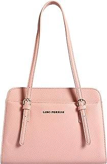 Lino Perros Pink Faux Leather Handbag