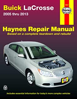 Buick LaCrosse (05-13) Haynes Repair Manual (Does not include information specific to eAssist models. Includes thorough vehicle coverage apart from the specific exclusion noted)