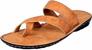 MARDI GRAS Men's Leather SLIPPER-TAN-6576