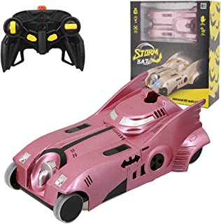 La moriposa 1:24 Electric RC Car Wall Climber Super Car Remote Control Car Vehicle Sport Racing Hobby Grade Licensed Model Car for Kids Adults(Rose Gold)