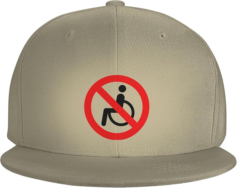 No Cooking Pan Sign Flat Brim Baseball Hat Cowboy Hat Sun Hat Unisex