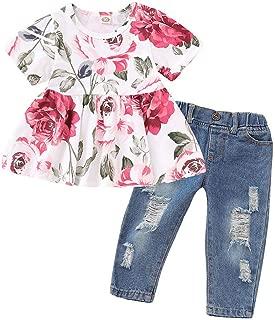 Pantalon pour Bebe Fille 2019 Chic Ete V/êTement Fille 2 3 6 4 5 6 Ans Chapeau De Soleil Ensemble Ensembles // 3Pc Floral Gilet T-Shirt Vetement De Marque Walaka