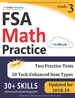 Florida Standards Assessments Prep: 3rd Grade Math Practice Workbook and Full-length Online Assessments: FSA Study Guide