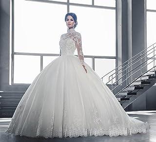 856ee2ea6d2 Inconnu UU Robe de Mariée Robe de Mariée de Luxe Épaule Épaule Manches  Longues Robe de