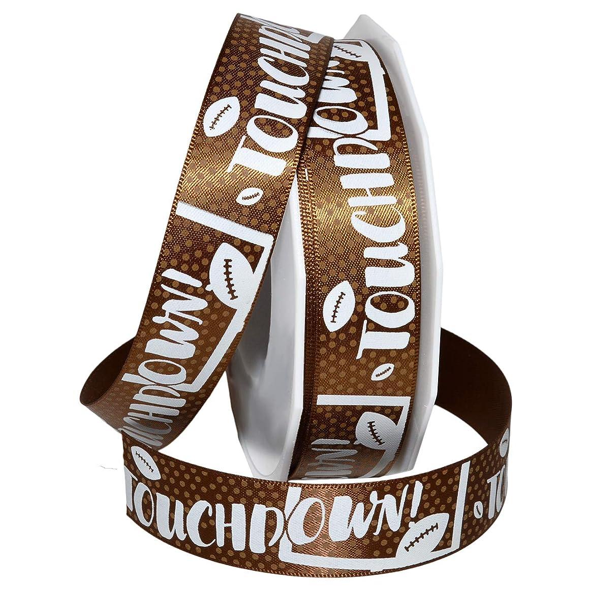 Morex Ribbon 4203 Touchdown Ribbon 7/8 inch by 20 Yards Brown
