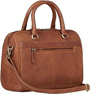 """STILORD Cassandra"""" Leder Handtasche Damen Fashion-Tasche Ledertasche Henkeltasche Umhängetasche und Schultertasche Echtleder, Farbe:Arona - braun"""