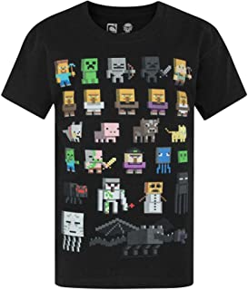 Minecraft Official Boys Sprites Characters T-Shirt
