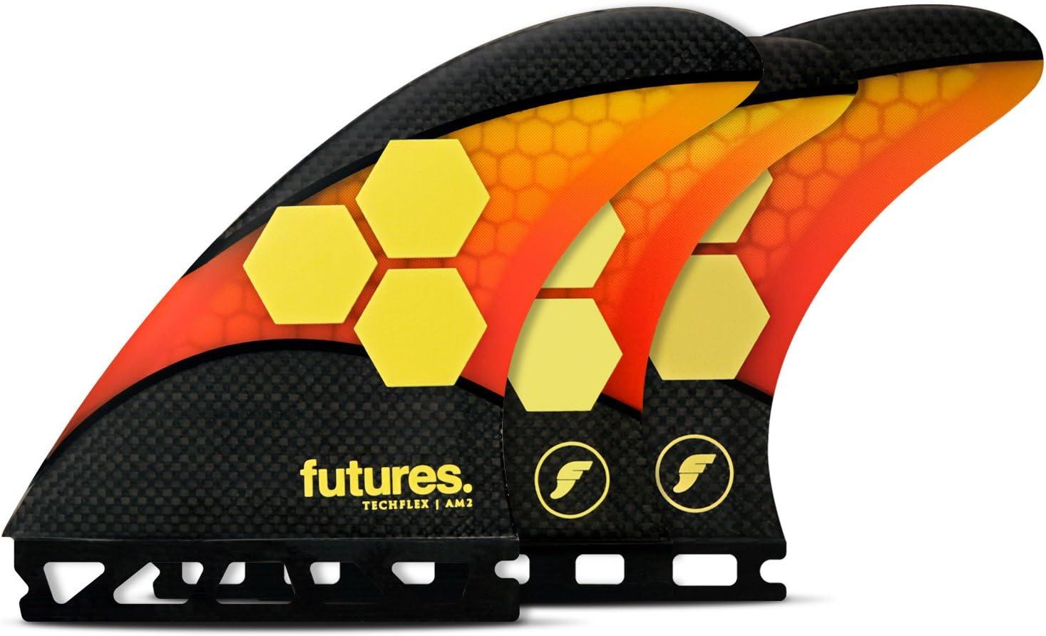 Futures Under blast sales Fins - Elegant AM2 RED TECHFLEX 5-FIN Orange