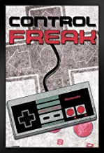 Pyramid America Control Freak Nintendo NES Old School Classic Vintage Video Game Controller NES 004 Black Wood Framed Poster 14x20