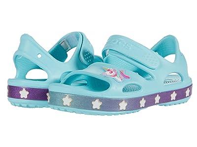 Crocs Kids Fun Lab Unicorn Charm Sandal (Toddler/Little Kid) (Ice Blue) Girl