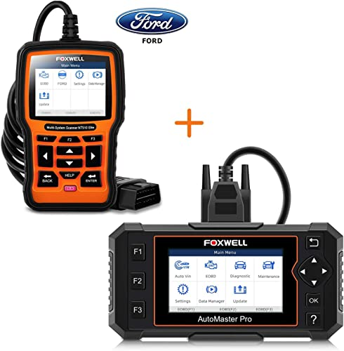 wholesale FOXWELL high quality NT614 Elite 4 System Scan Tool with EPB/Oil Reset and NT510 Full System outlet online sale Code Reader for Ford online
