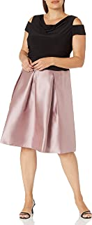 S.L. Fashions womens Plus Size Holiday Elegant Party Dress Cocktail Dress