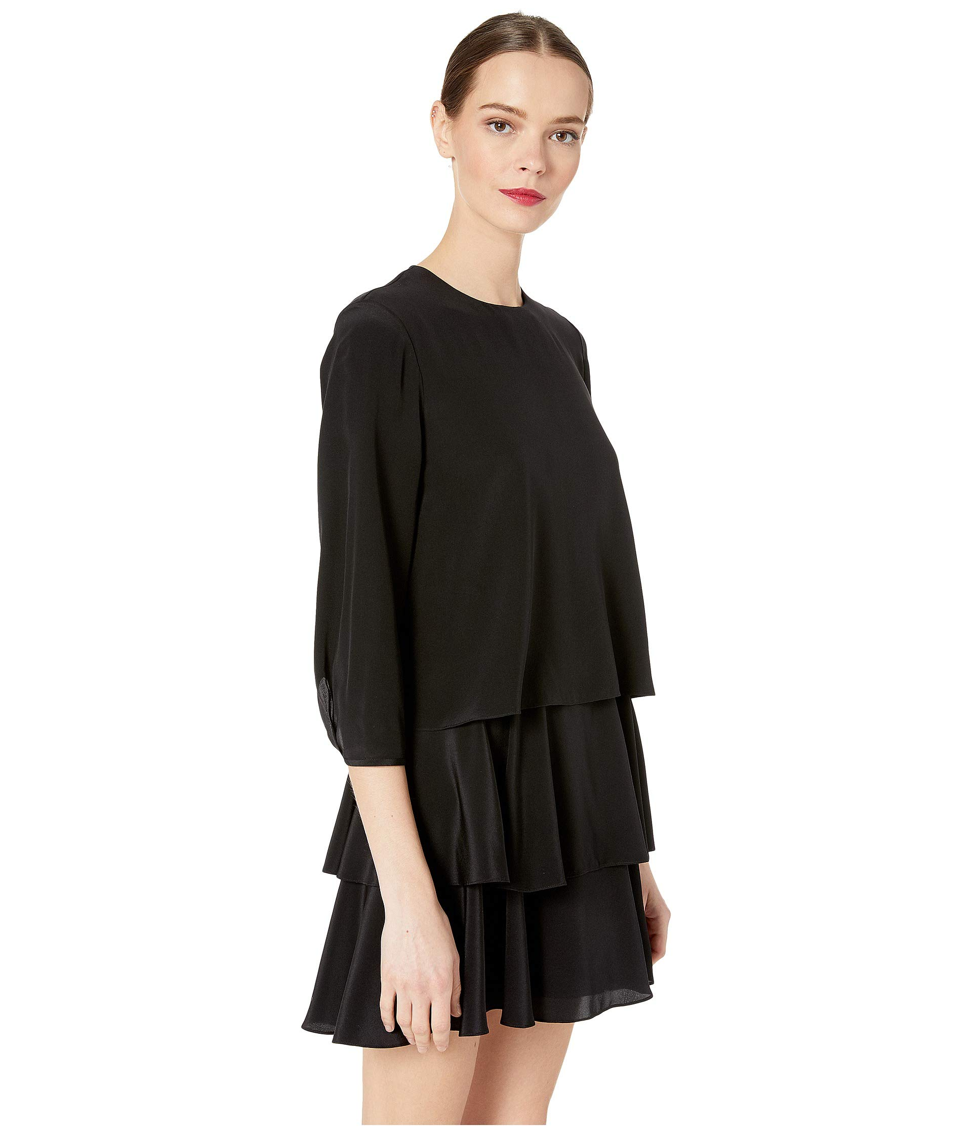 Black Dress Wu Jason Grey Long Sleeve 7q6Fn8w