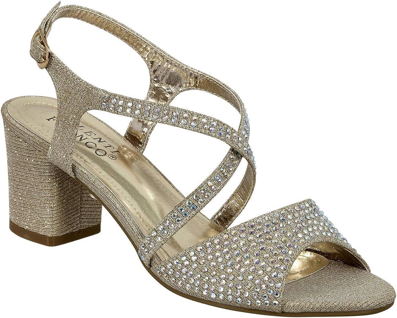 Valenti Franco Leona-1 Women's Open Toe Dressy Block Heels