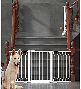 Self Closing Baby Safety Gates 29 3-89 3in Super Wide Walk-Thru Fireplace Fence For Staircase Guardrail Pressure Mount  Color High78cm width  Size 216-223cm