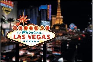 Fun Express - Viva Las Vegas Backdrop Banner - Party Decor - Wall Decor - Preprinted Backdrops - 3 Pieces