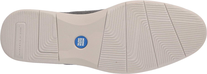 Nunn Bush Men's Bayridge Canvas Plain Toe Oxford Lightweight Lace Up with Comfortable Soft Gel