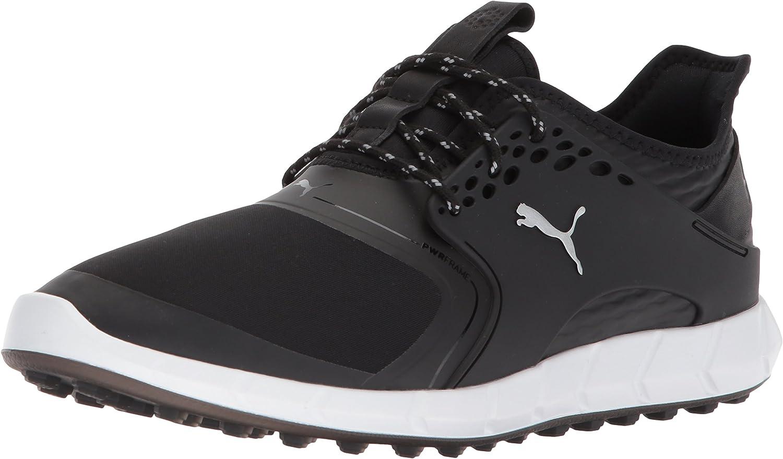 Puma Golf Men's Ignite Pwrsport Manufacturer direct delivery Black Silver 9.5 shopping Shoe Med
