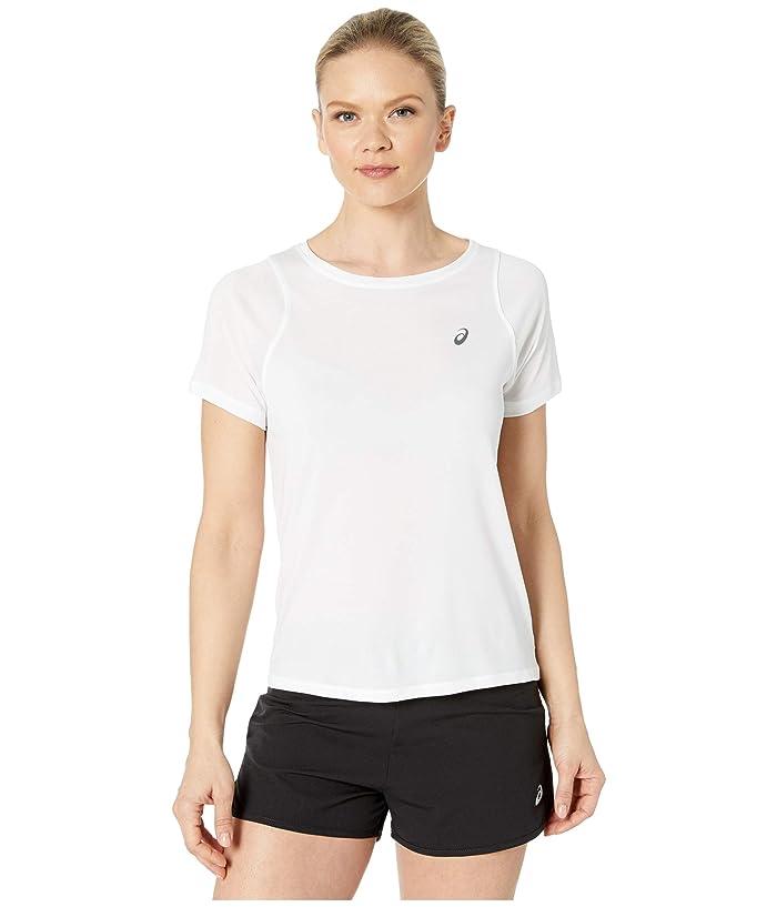 ASICS  Tokyo Short Sleeve Top (Brilliant White) Womens Clothing