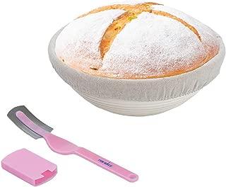 Banneton Basket 10inch round,sourdough basket,Handmade Unbleached Natural rattan basket,with liner &bread lame