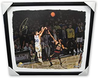 db6792e3f02 Stephen Curry Signed Autographed Big Canvas Framed/Stretched vs Lebron James  /30 - Autographed