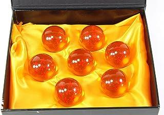 کلاسیک متوسط کریستال شیشه ای 7 ستاره توپ - 7 عدد جعبه هدایا (43 میلی متر در قطر)