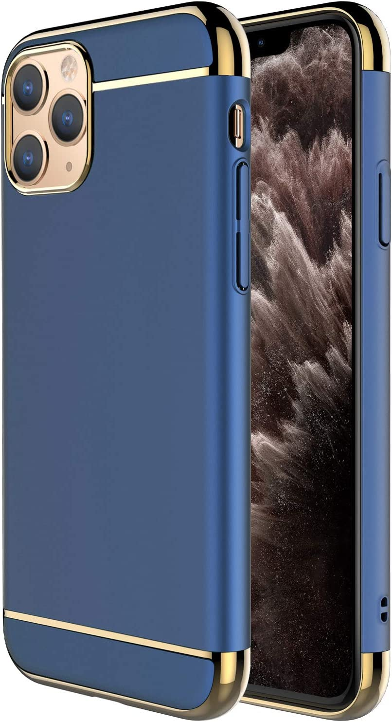 iPhone 11 Pro Max Case,RORSOU 3 in 1 Ultra Thin and Slim Hard Case Coated Non Slip Matte Surface with Electroplate Frame for Apple iPhone 11 Pro Max (6.5