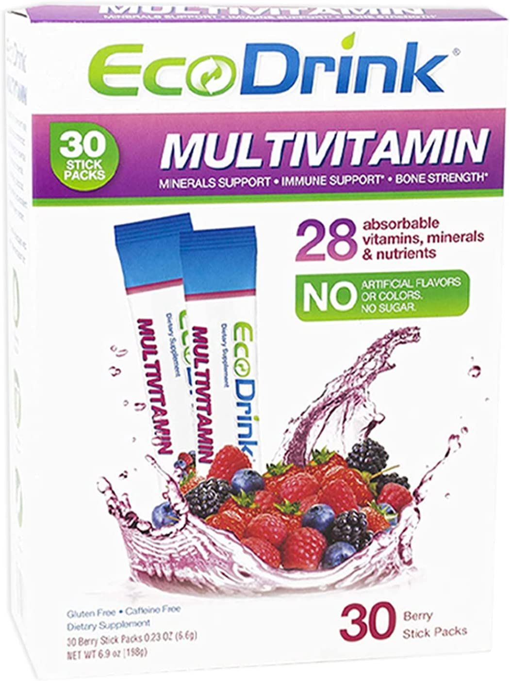 EcoDrink At the price Complete Multivitamin Mix Drink. Coun Berry Special price for a limited time - 30 Flavor