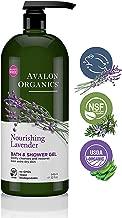 Avalon Organics Nourishing Lavender Body Wash and Shower Gel, 32 oz