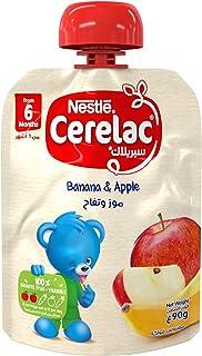 Nestlé CERELAC Fruits Puree Pouch Banana Apple 90g
