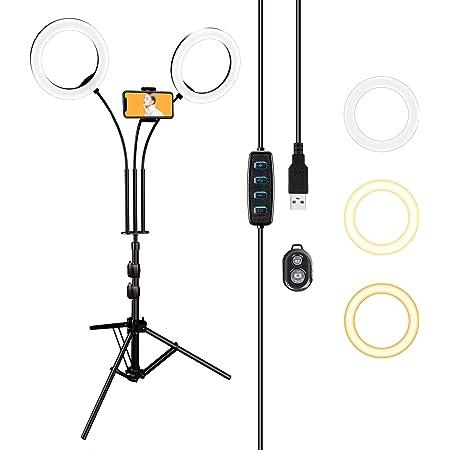 Dual Led Ringlicht Luxsure Selfie Licht Ringleuchte Kamera