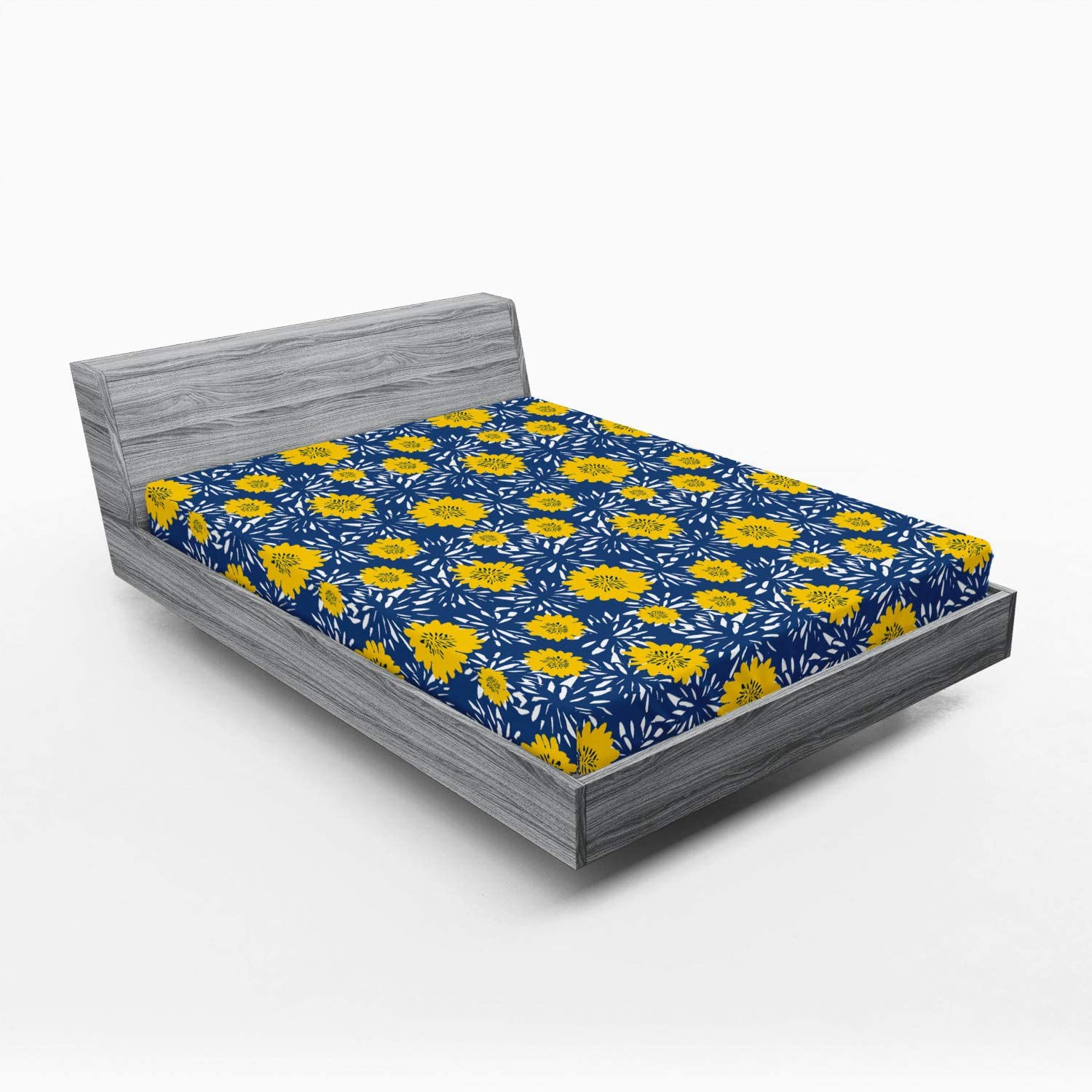 Ambesonne Flower Fitted store Sheet Vibrant Paintbrush Blossom Lily discount B