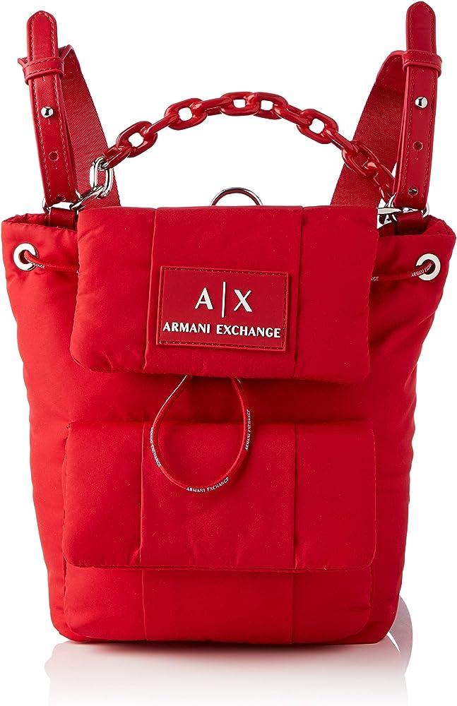 Armani exchange backpack, zaino per donna,