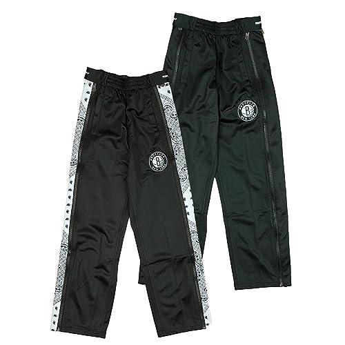 separation shoes 4cfc7 00860 Brooklyn Nets NBA Big Boys Paisley Tear-Away Pants, Black