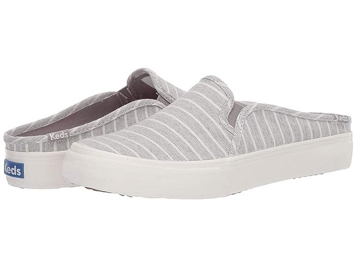 Keds  Double Decker Mule Chambray Stripe (Light Gray) Womens Shoes