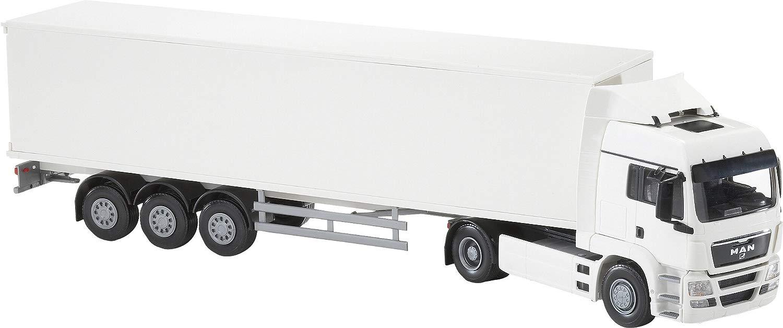 Camion uomo TG-A 2 essieux avec remorque autogo bianca.