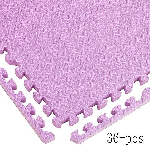 n ° 1 en línea WAHOUM Alfombra Puzle Puzzles De Suelo Casa Bebé Gateando Antideslizante Antideslizante Antideslizante Aislamiento Acústico Impermeable EVA, 9 Colors (Color   púrpura, Talla   36-pcs)  opciones a bajo precio