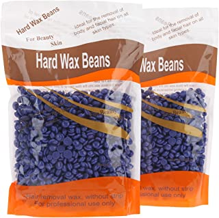 Bonjanvye Hard Wax Kit Hair Removal Wax Kit Hard Wax Beans Kit Prime 300g Lavender