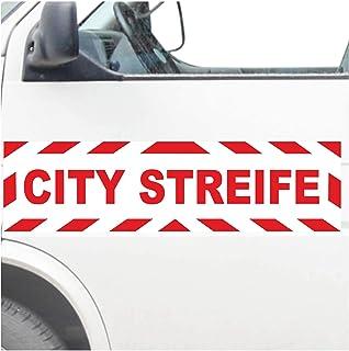 INDIGOS UG® Magneetbord - City Stripe - Magneetfolie in verschillende maten en kleuren, voor auto's, vrachtwagens, voertui...