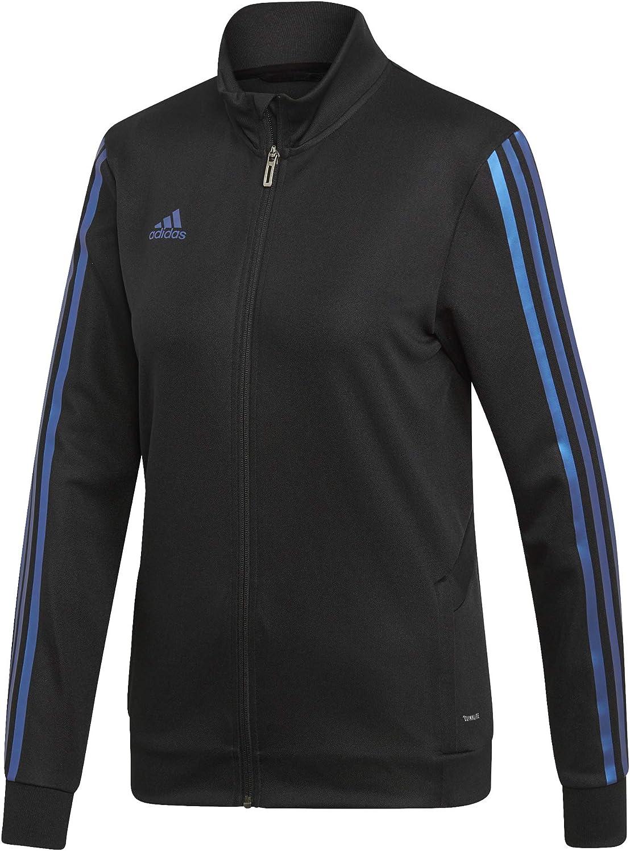 adidas Damen Alphaskin Tiro Training Jacket Sweatjacke Schwarz / Blau Pearl Essence