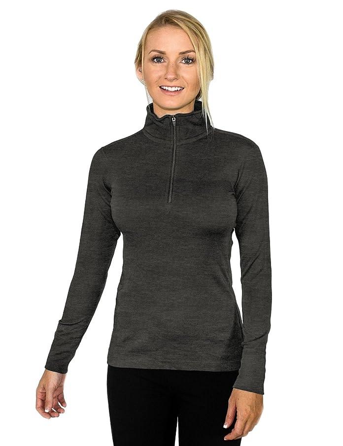 WoolX Brooke-Women's Merino Wool 1/4 Top -Soft, Midweight Merino Wool Shirt