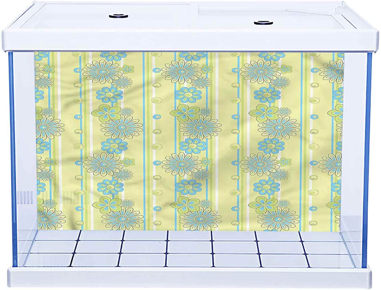 SUZM Dealing full price reduction Fish Tank Wallpaper Aquarium and Background Limited time cheap sale Orn Blue Yellow