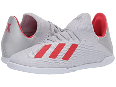 adidas Kids X 19.3 IN Soccer (Little Kid/Big Kid) (Silver/Hi-Res Red/White) Kid