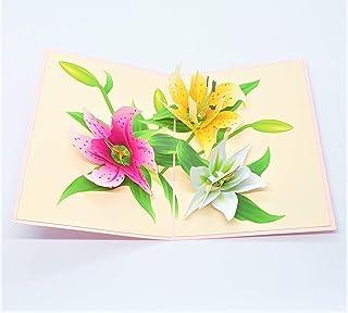 BC Worldwide Ltd carta pop-up 3D fatta a mano ninfea compleanno anniversario di matrimonio San Valentino fidanzamento fest...