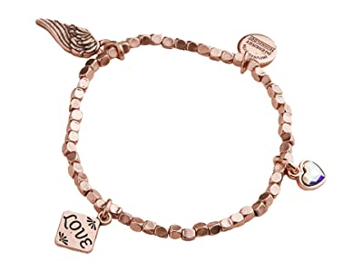 Alex and Ani Love Multi Charm Stretch Bracelet (Rose Gold) Bracelet