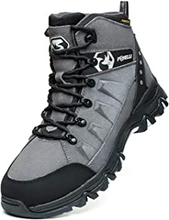 Men's Hiking Boots – Waterproof Suede Leather Hiking Boots for Men, Breathable, Comfortable & Lightweight Hiking Shoes