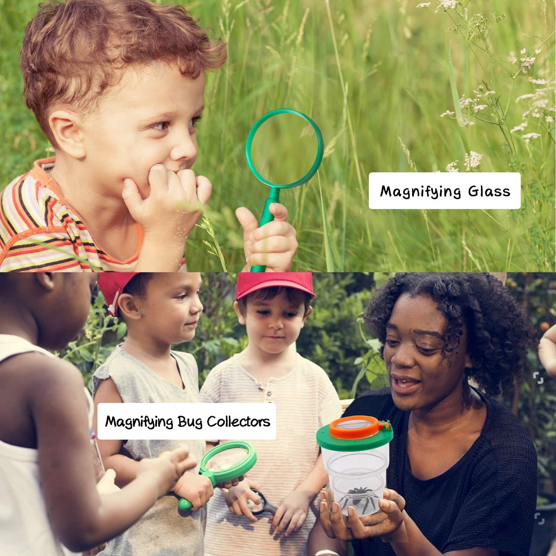SPECOOL Kit Explorador para Niños, 25Pcs Juguetes de Juego de imaginación para niños y niñas Aventurero Binocular Exploration Fun Toy Kit para Camping y Senderismo: Amazon.es: Deportes y aire libre