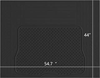 West Coast Auto Heavy Duty Rubber Trunk Cargo Liner Floor Mat, Trimable to Fit for Car, SUV, Van, Trucks (Large, Black)
