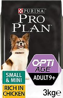 PURINA Pro Plan Comida Seco para Perro Adulto Pequeño y Mini 9+ con Optiage, Sabor Pollo - 3 Kg