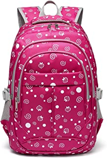 cdd378a2d2 Hearts Print School Backpacks For Girls Kids Elementary School Bags Bookbag